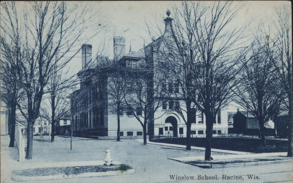 North side of Winslow School in 1908 before the gymnasium/cafeteria was added