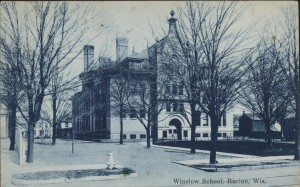 North side of Winslow School before the gymnasium/cafeteria was added