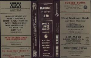 Racine City Directory, 1970
