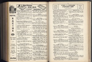 1939 Racine City Directory -- still had a horseshoer