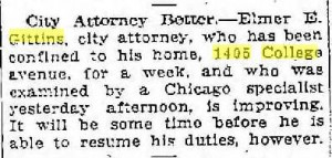 City Attorney Better, Racine Journal News 1922 03 04