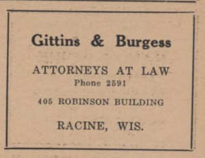 Gittens & Burgess in 1919