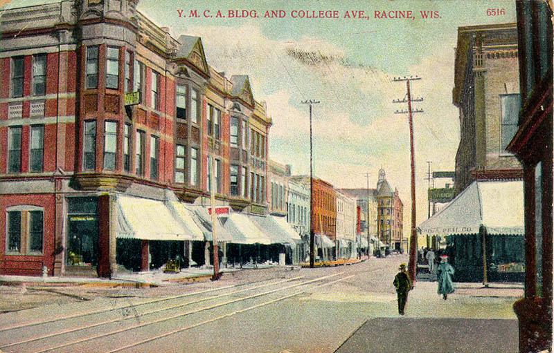 Old Racine Pho Aerial Racine Photo Vintage Racine WI Pic Vintage Racine Print