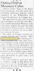 Here, in 1935, we can see that Daisy Winifred is doing well and is a member of a businesswoman's club, and is in fact retiring president.