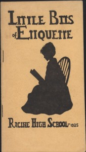 Little Bits of Etiquette, Racine High School, 1925