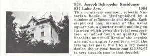 Joseph Schroeder residence, 837 Lake Ave.
