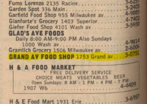 1753 Grand Ave. from 1954 phone book