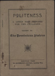 Politeness, 1913, by the Dominican Sisters