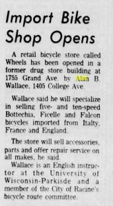 Import Bike Shop Opens, 8/24/1973, Racine Journal Times