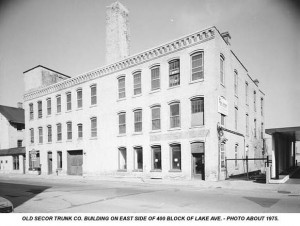 Secor Trunk Company, photo taken in 1975
