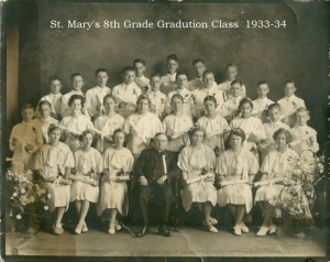 St. Marys 8th grade graduation about 1933