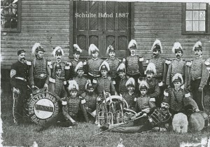 Schulte Band 1887.  This is a better copy of the other one I sent you. Henry Schulte is in the top row, 5th from right.  Joseph Schulte is in the top row, far right.  John Schulte is in the middle row, seated 2nd from left.