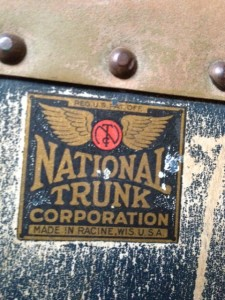 National Trunk Company name plate