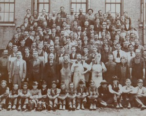 Miller Shoe Factory, Joseph Miller btm. row standing, far left