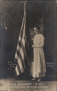 Mother Ostergaard, Soldiers and Sailors Canteen, 504 College Ave., Racine, Wis.