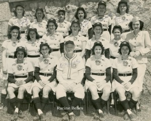 Racine Belles..wish I had a date for this one.  The picture belonged to my aunt.  She was good friends with one of the girls on the team.