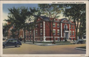 Woman's Club, postcard postmarked 1938