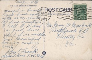 Woman's Club postcard, reverse