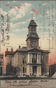 Racine court house in Memorial Square, 1909