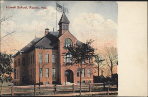 Howell School, Racine, Wi., postmarked 1908