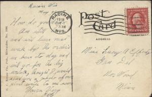 J. I. Case Co.'s Plant, Racine, Wis., 1918, reverse