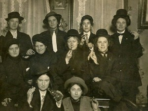 Women dressing as men - circa 1910 1
