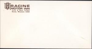 Racine Motor Inn envelope