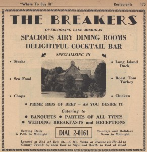 This restaurant, The Breakers, sounds awesome. I wonder what the building was before it was a restaurant.