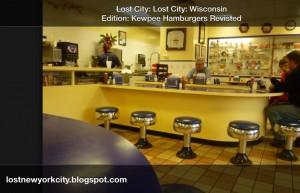 Kewpee stools and counter