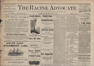 Racine Advocate, 1881