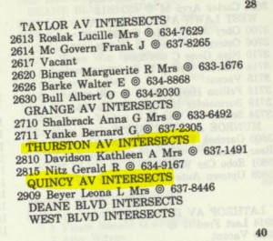 Tina Davidson's address -- 2810