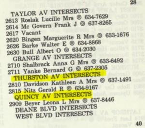 Tina Davidson's address -- 2810