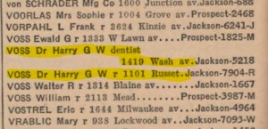 Dr. Voss in 1940 phone book