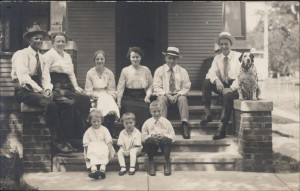 "Christiansen family, ca. 1920, ""Dalmatian dog"""