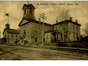 Cara Bradshaw pointed me to this postcard. Father Matthew's Hall seems to have been a school connected to the old St. Patrick's church on St. Clair Street, or where St. Clair Street used to pass through.