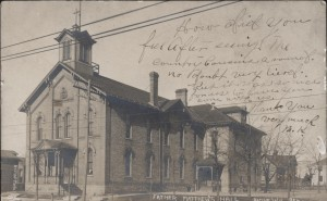 Father Matthew's Hall, 1906. Postcard by E. A. Bishop.