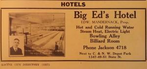 Big Ed's Hotel, 1937