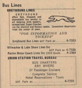 Bus stations in 1954