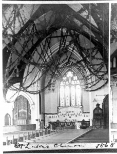 St. Luke's Episcopal Church, Racine, Wisconsin, interior in 1868